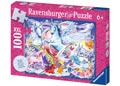 Ravensburger - Amazing Unicorns Puzzle GLITTER 100 pieces