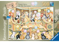 Crazy Cats Carousel Puzzle 500pc
