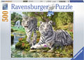 Ravensburger - White Cat Puzzle 500pc