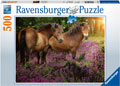 Rburg - Ponies in the Flowers Puzzle 500pc