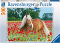 Rburg - Horse in the Poppy Field Puzzle 500pc