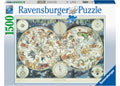 Ravensburger - World Map of Fantastic Beasts 1500 pieces