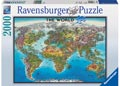 Ravensburger - World Map Puzzle 2000pc