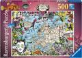 Ravensburger - European Map, Quirky Circus 500pc