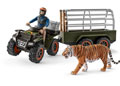 Schleich - Quad Bike with Trailer and Ranger