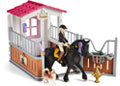 Schleich - Horse Stall with Tori & Princess